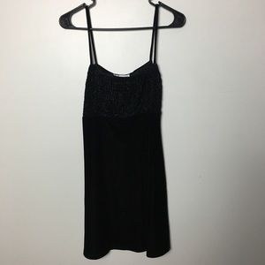 Vintage Velvet Babydoll dress S